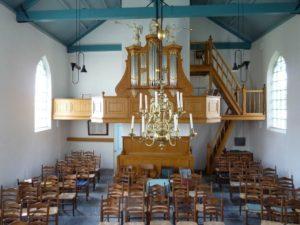 Interieur Witte Kerkje Holysloot (Orgel)